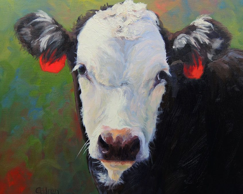 A sweet friend in Greensboro paints these wonderful cows…