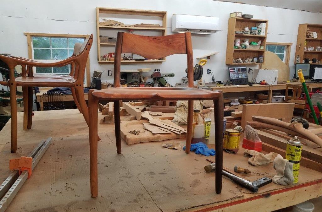 Sculpted cherry chair in the making…